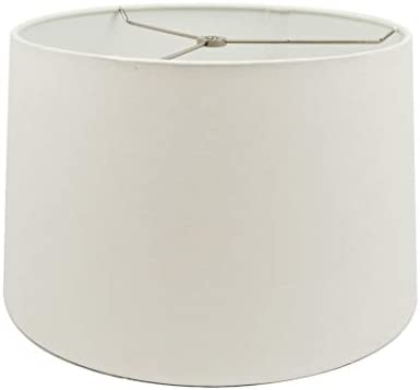 Mestar White Fabric Hardback Drum Lampshade 13x15x10 Spider