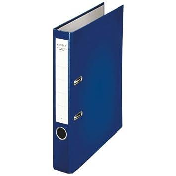 Leitz 231148 - Archivador plástico con anillas A4 color azul: Amazon.es: Oficina y papelería