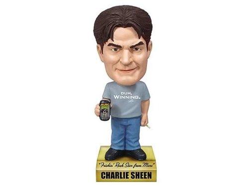 Charlie Sheen Wacky Wobbler Talking Bobble Head Frickin Rock Star from Mars 15 cm Funko