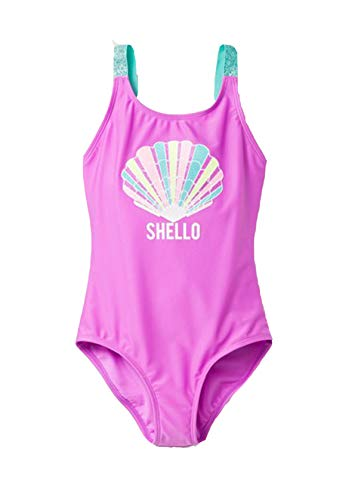Cat & Jack Girls' Sea Shell Fun One Piece Swimsuit (6) Pink from Cat & Jack