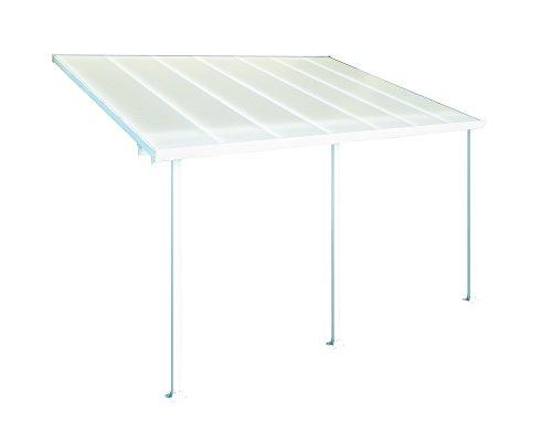 Palram Feria Patio Cover 10' x 14' White (Patio For Awnings Aluminum Home)