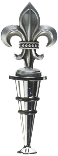 Thirstystone Wine Stopper, Fleur de Lis, Silver (Silver Wine Bottle Stopper)