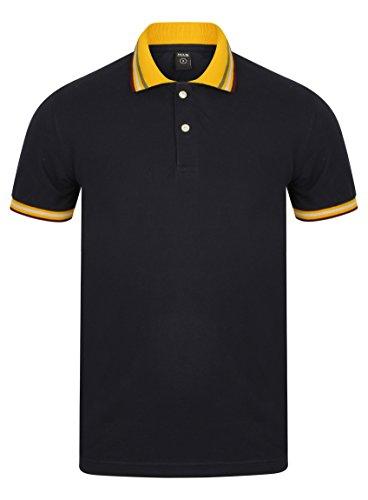 Men's Navy Pique Polo-Shirt von BCUK