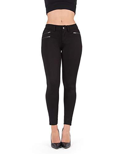 MeMoi Anca Diagonal Zippers Legging - Fashion Leggings Zipper