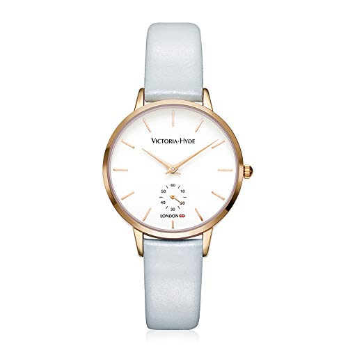 VICTORIA HYDE Simple Quartz Genuine Leather Strap Women Wristwatches Casual Business Dress Watches for Ladies -
