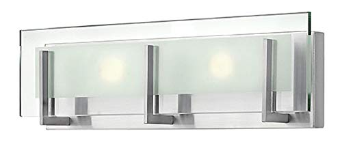 Hinkley 5652BN-LED2 Contemporary Modern Two Light Bath from Latitude collection in Pwt, Nckl, B/S, Slvr.finish, (Hinkley Latitude)