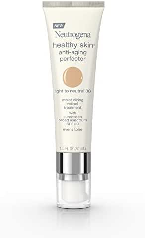 Neutrogena Healthy Skin Anti-Aging Perfector Spf 20, Retinol Treatment, 30 Light To Neutral, 1 Fl. Oz.