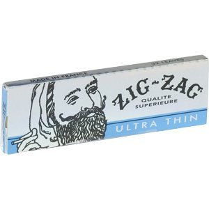 Zig Zag Ultra Thin Cigarette Rolling Papers, 1 1/4 Size Pack of 6