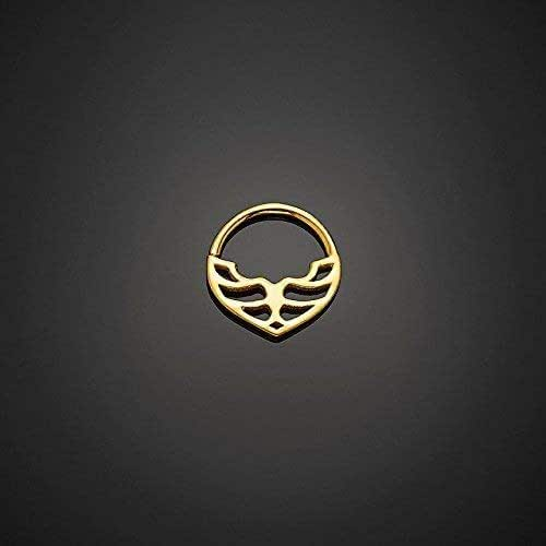 Amazon Com Unique Septum Jewelry 24k Gold Plated Silver