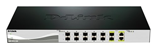 D-Link Systems 12-Port 10G Web Smart Switch Including 10 SFP+ and 2 RJ45/SFP+ Combo Ports (DXS-1210-12SC)