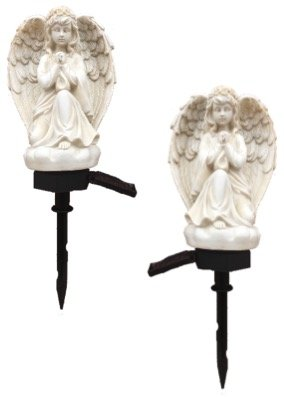 Set of 2 Memorial Solar Angel Stake (Angel Plant Stake)