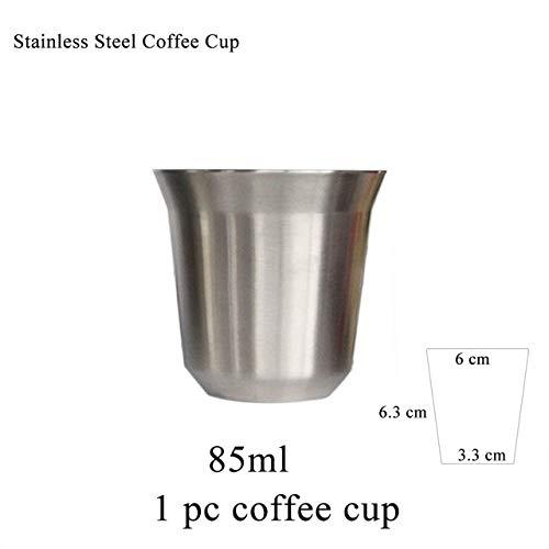 Fiesta 85ML 170ML Taza de café espresso de acero inoxidable para Nescafe Nespresso Dolce gusto Tassimo Lavazza Cápsula...