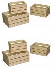 Multicraft Imports WS920 - Cajas de madera para manualidades (3 unidades): Amazon.es: Juguetes y juegos