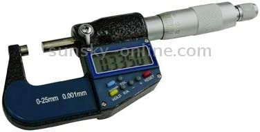 HUANGMENG Tool 25mm (1 inch) Electronic Digital Micrometer (resolution 0.001mm)