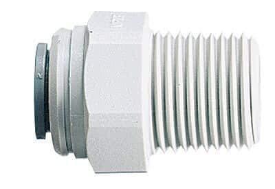John Guest Male Pipe Adapters, 1/4 X 1/4, 10 Per Pack - John Guest Pipe
