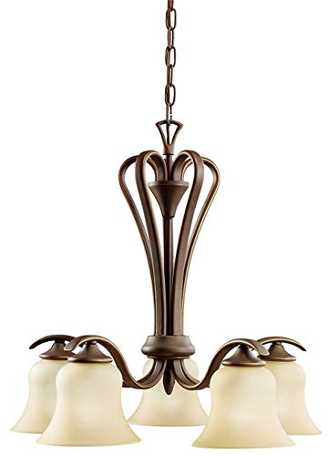 Kichler 2084OZL18 Transitional LED Chandelier from Wedgeport Collection in Bronze/Dark Finish
