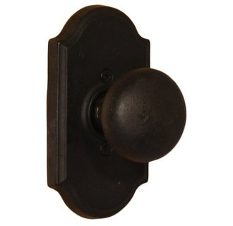 Weslock 7105F-2 Black Wexford Dummy Knob with Premiere Rosette