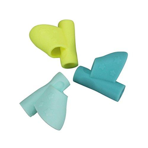 Lisin Aid Grip Posture Correction Tool,3PCS/Set Children Pencil Holder Pen Writing Aid Grip Posture Correction Tool New (Handcrafted Spinning Rod)