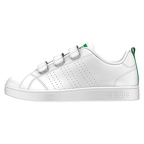 Adidas Vs ADV Cl CMF Inf, Zapatillas Bebé Unisex, Blanco (Footwear Whitefootwear Whitegreen 0), 19 EU