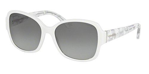 COACH Sunglasses HC8166F 536011 White/White Crystal - White Coach Sunglasses