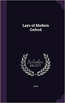 Book Lays of Modern Oxford