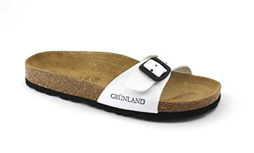 GRUNLAND GRÜNLAND VOLUNTAD CB0323 Zapatillas Blancas Dama Birk Hebilla Bianco