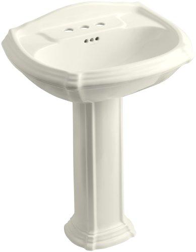 KOHLER K-2221-4-96 Portrait Pedestal Bathroom Sink with 4