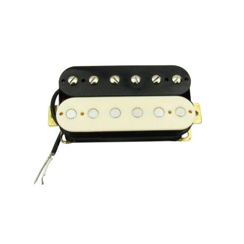 Musiclily 52MM Zebra Humbucker Bridge Double Coil Electric Guitar Pickups,Cream - Pickup Zebra Coil