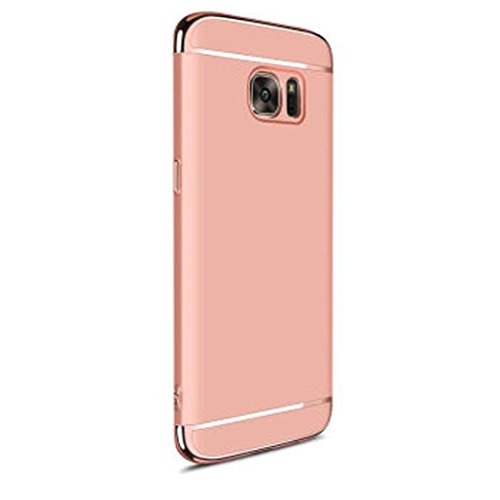 GBSELL Luxury Thin Electroplate Hard Shockproof Case Cover for Samsung Galaxy S7 (Rose Gold)
