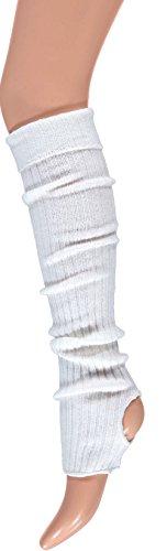 krautwear® Balletwarmers voor dames en meisjes, beenwarmers met hielgat, beenwarmers, beenwarmers, ca. 55 cm, jaren 80…