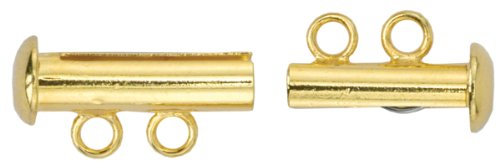 (Artistic Wire 2-Strand Slide Clasp for Jewelry, Gold, Set of 2)