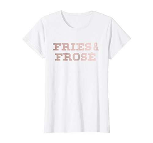Fry Rose - Womens Summer Fashion Rose Frose Shirt Wine French Fries Tshirt
