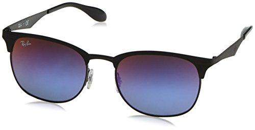 Opaco b1 A Specchio Nero ban 186 Sfumato Metallo Ray Occhiali Rb3538 Da Clubmaster Sole Blu 53black qSLUMpzVG