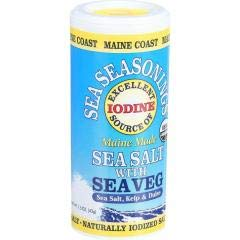 Maine Coast - Sea Salt With Sea Vegetable Seasoning (4-1.5 OZ) - Fully Meet your Body's Daily Need for Iodine