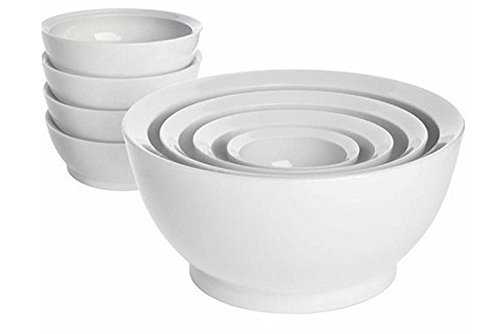 Calibowl Non-Spill 8-piece Bowl Set White