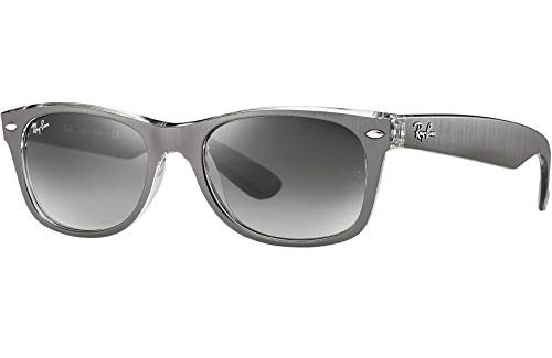 Ray Ban RB2132 614371 55 Gunmetal Clear New Wayfarer Sunglasses Bundle-2 Items (Ray Ban Wayfarer Clear Lenses)