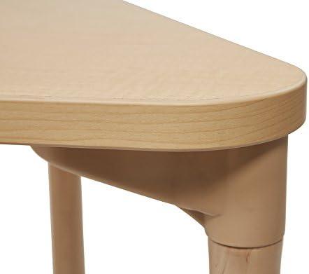Ecr4kids trap/èze en /érable multi-usages dactivit/é d/école Table avec Thermo-fused Edge et pieds en bois 24 X 48 1