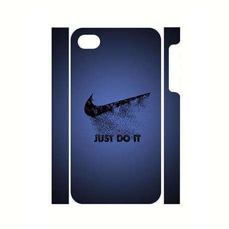 Plástico resistente carcasa para iphone 4 4s con Nike Mark ...