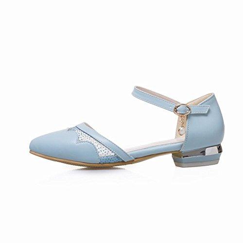 Bout escarpins Femmes Pointue Talons Petits Bleu Bride Cheville MissSaSa E5qAvc7wA