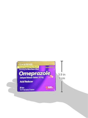 GoodSense Omeprazole Delayed Release, Acid Reducer Tablets 20 mg, 28 Count