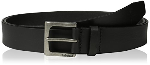 Timberland Men's Big and Tall 35Mm Classic Leather Jean Belt, Black, 48