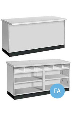 New Metal Framed Grey Finished 4' Service Counter 48