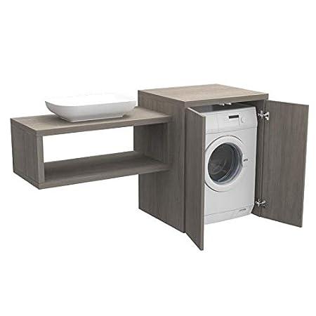 Ve.ca. Stoccolma - Mueble de baño con puertas de madera, estante ...