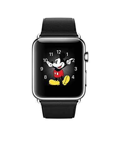 Apple Watch - 42mm Stainless Steel - Black Classic Buckle