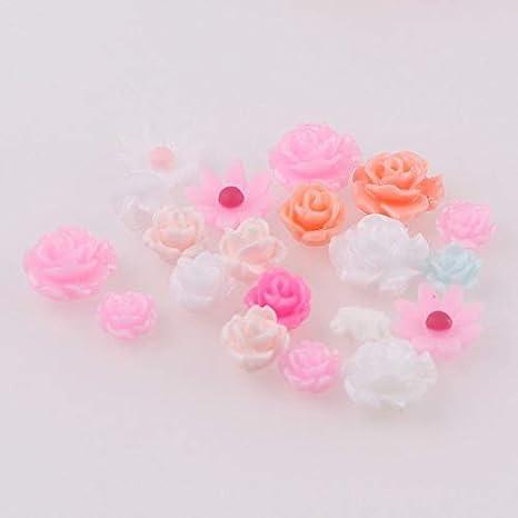 Nails Art Accessories - 100 piezas de colores mezclados 3D de uñas ...