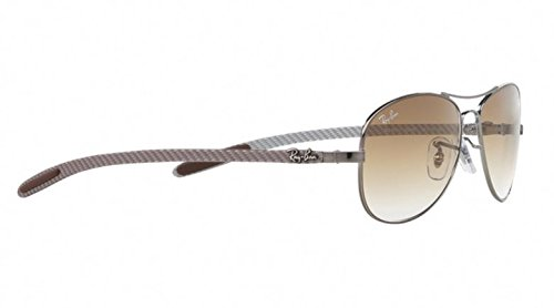 Ray-Ban Carbon Fiber Brown Gradient Sunglasses RB 8301 004/51 59mm + SD Gift by Ray-Ban (Image #2)