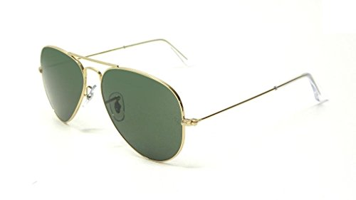 Ray Ban RB3025 L0205 58 Gold/Gray Green Large Aviator Sunglasses Bundle-2 - Ban Ray Rb3025 58 L0205