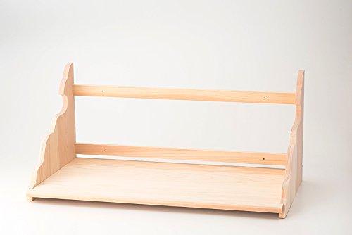 低床型総ひのき製神棚板 大和棚板 大  内祭用 雲模様横板使用 外寸:高さ約30cm×幅約75cm×奥行約36cm B01N4J6YQM