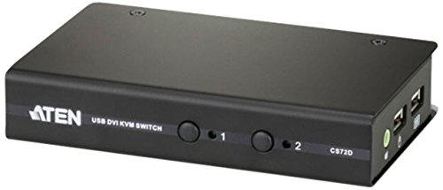 Aten 2-Port USB DVI KVM Switch (CS72D) by ATEN
