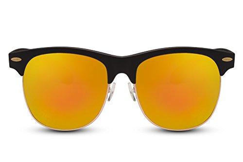 Sunglasses Ca Clubmaster Noir 023 Rétro Femmes Hommes Cheapass Miroitant Y1nvYU